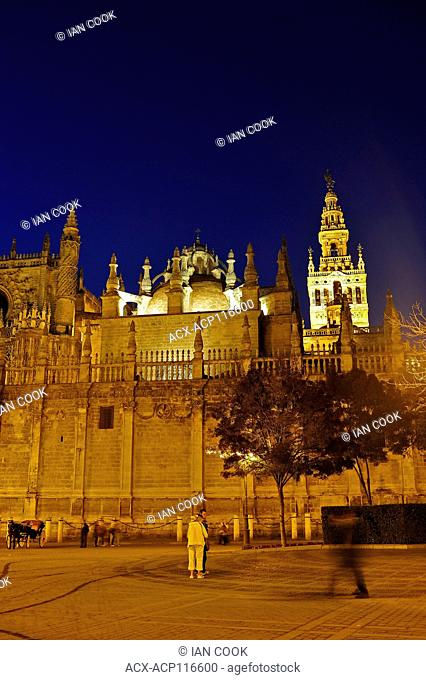 The Cathedral of Saint Mary of the See, Seville Cathedral, Seville, Andalusia, Spain