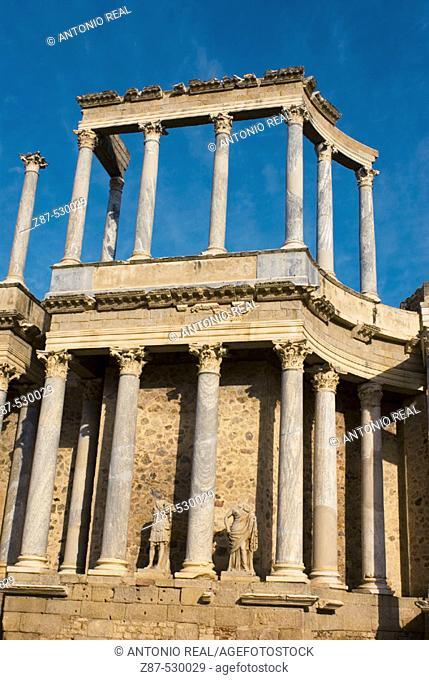 Roman theatre. Mérida. Badajoz. Ruta de la Plata. Spain