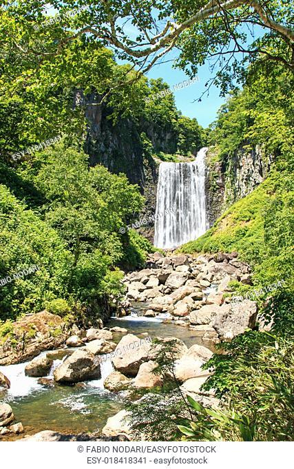 Garo Waterfall in Hokkaido, Japan