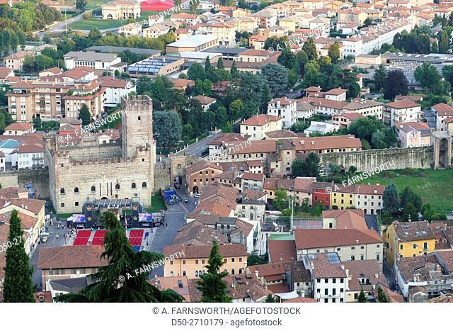 MAROSTICA, ITALY View from Pausolino Hill. Veneto area, Upper Castle