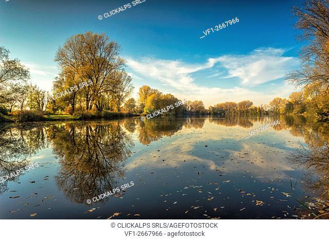 Cusico, Milan, Lombardy. Carcana's lakes at few kilometers from Milan