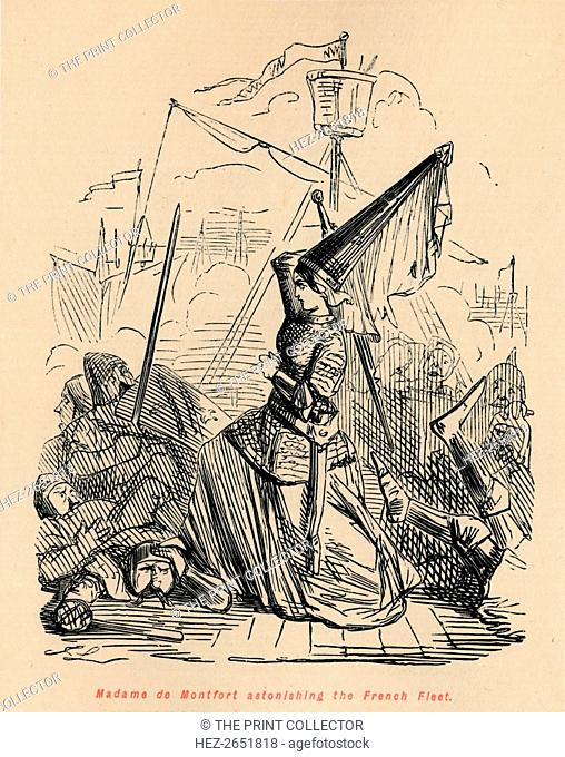 'Madame de Montfort astonishing the French Fleet', c1860, (c1860). Joanna of Flanders (c1295-1374) was Duchess of Brittany by her marriage to John of Montfort