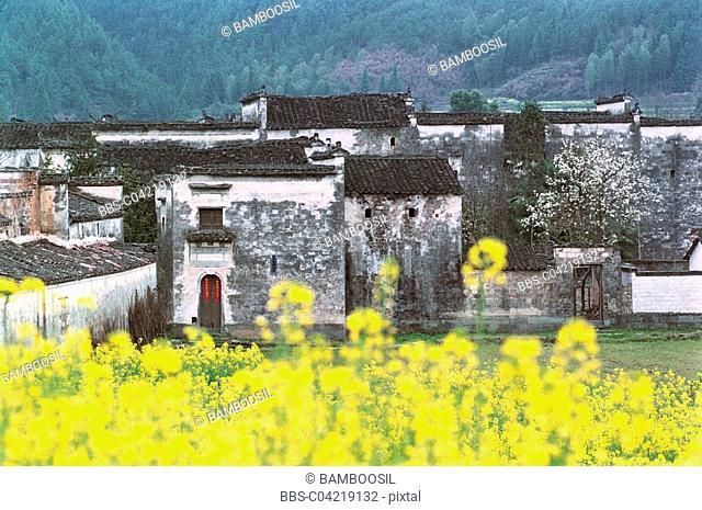 Ming and Qing dynasty ancient buildings of Yan village, Wuyuan County, Jiangxi Province of People's Republic of China