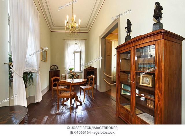 Cabinet room of Felix Mendelssohn Bartholdy's wife, Cecile, in Mendelssohn House, Leipzig music trail, Leipzig, Saxony, Germany, Europe