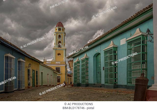 Bell tower and building in Trinidad, Sancti Spiritus, Cuba