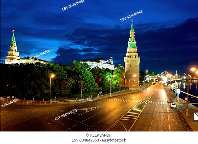 Tower Kremlin and street
