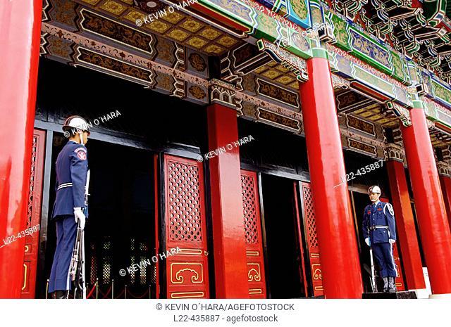 Honor guard at Martyrs' Shrine, Taipei (capital), Taiwan, Republic of China
