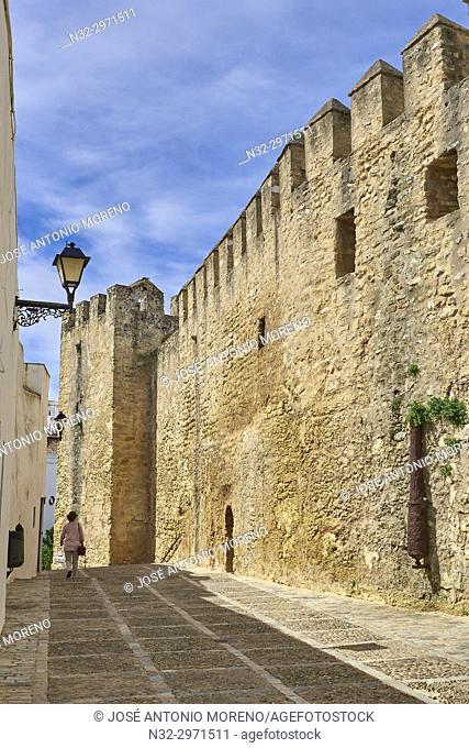 Vejer de la Frontera, Moorish walls, Costa de la Luz. White Town, Cadiz Province. Andalucia. Spain