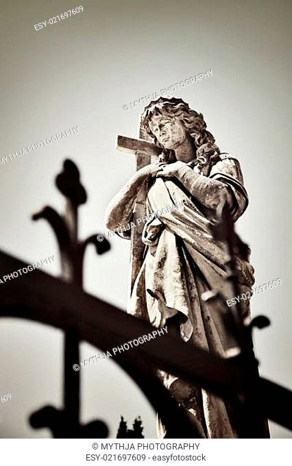 Religious statue in the old cemetery