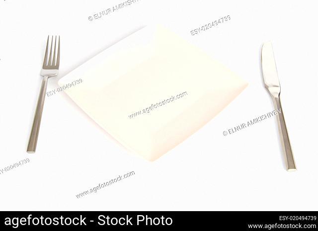 Set of utensils arranged on the table