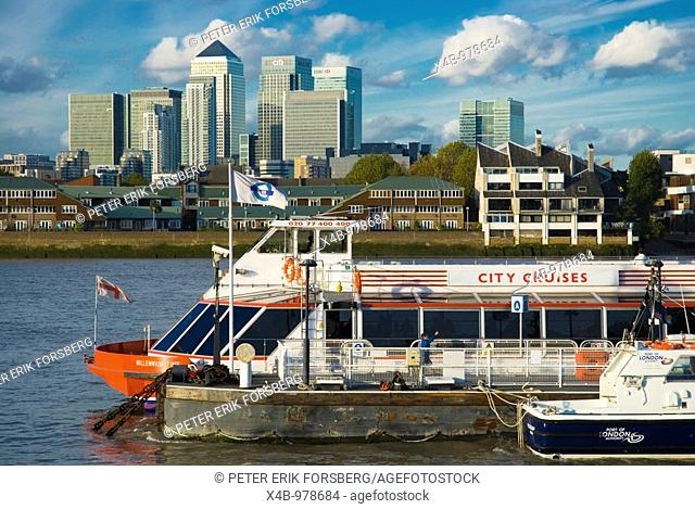 City Cruises sightseeing boat Greenwich pier southeast London England UK Europe