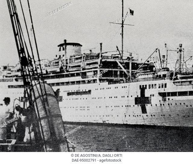 Hospital ship Vulcania (1926-1973), Italy, 20th century. Genoa Pegli, Civico Museo Navale (Naval Museum)