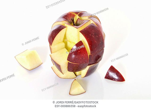 checkered red apple