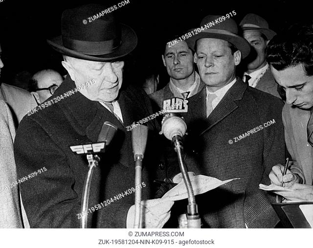 Dec. 4, 1958 - Berlin, Germany - West Germany's first chancellor KONRAD ADENAUER began his career in politics as a member of the Cologne City Council