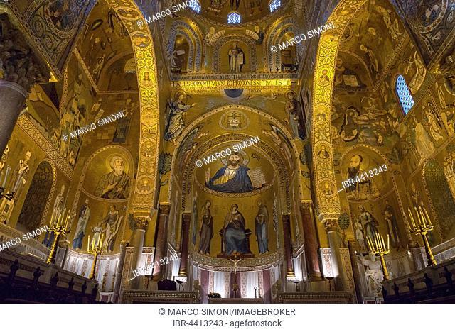 Palatine Chapel, Cappella Palatina, Palazzo Reale, Palermo, Sicily, Italy