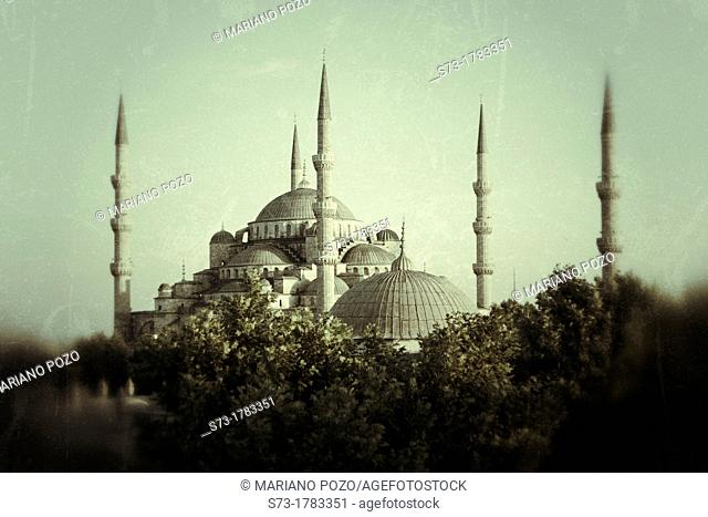 Mosque Sultan Ahmet, Blue Mosque, Istanbul, Turkey