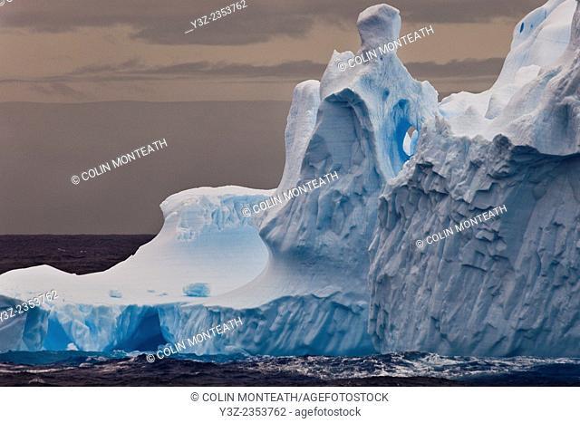 Eroded iceberg, Southern Ocean, East Antarctica
