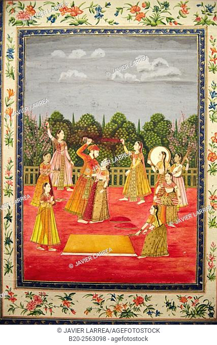 Mughal miniature painting, Islamic Art, India, Pergamon Museum, Berlin, Germany