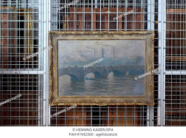 dpatop - The painting 'Waterloo Bridge (1903)' by Claude Monet (1840-1926) can be seen during a press talk on the preparations of an exhibition of exemplary...