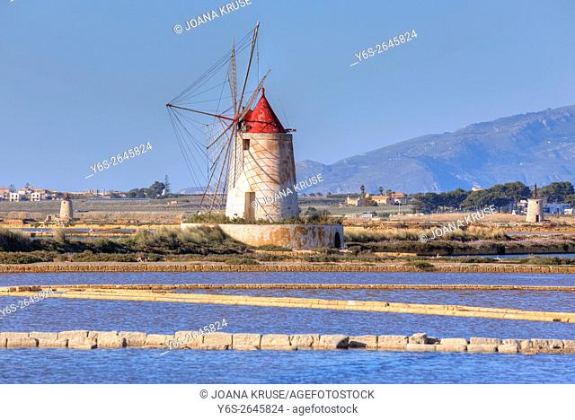 Salt Mills, Marsala, Mozia, Sicily, Italy