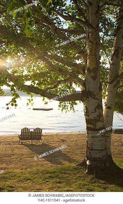 Arrowhead Park Beach, Inlet, New York, Adirondack Mountains