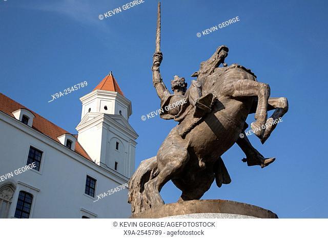 Equestrian Statue of King Svatopluk I by Kulich, Bratislava Castle; Slovakia