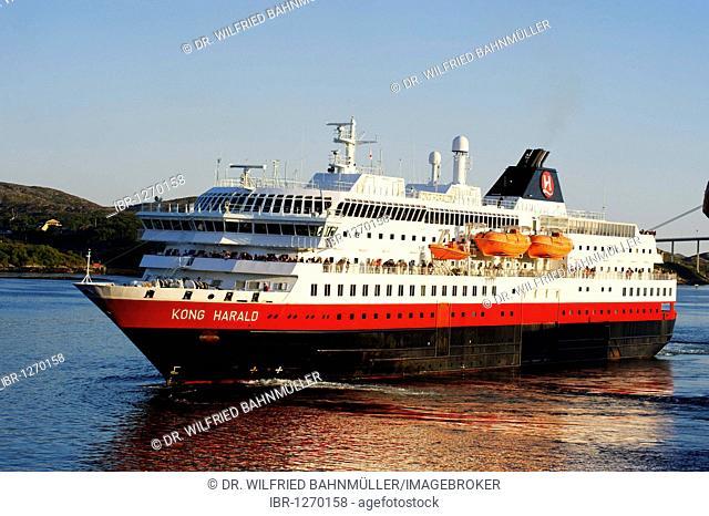 MS Kong Harald, Hurtigruten, Rorvik, Norway, Scandinavia, Europe