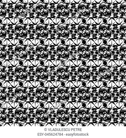 black on white abstract pattern