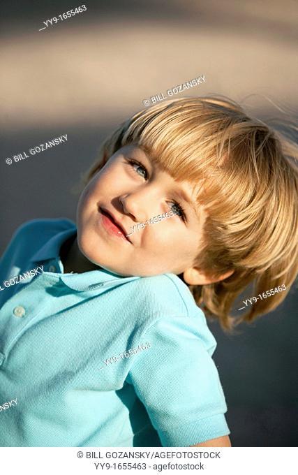 Portrait of Blond Boy - Pompano Beach, Florida USA