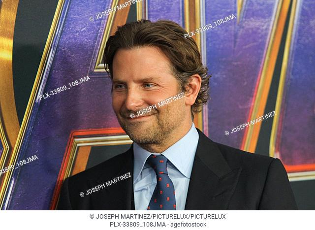 """Bradley Cooper at The World Premiere of Marvel Studios' """"""""Avengers: Endgame"""""""" held at the Los Angeles Convention Center, Los Angeles, CA, April 22, 2019"""