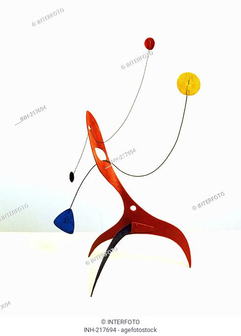 fine arts, Calder, Alexander, 1898 - 1976, standing mobile, 1930, private collection, Switzerland, historic, historical, America, USA, 20th century