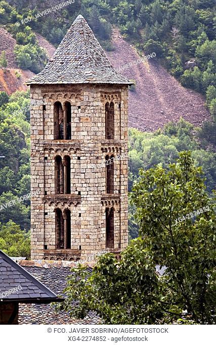 Romanesque church of Santa Eulalia – Erill la Vall - Vall de Boi - Pyrenees - Lleida Province - Catalonia - Cataluña - Spain