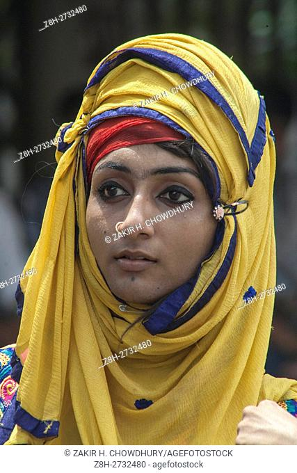 DHAKA, BANGLADESH - SEPTEMBER 17 : A Bangladeshi transgender attend a protest against the recent killing of their leader Haider Ali Koli in front of Press Club...