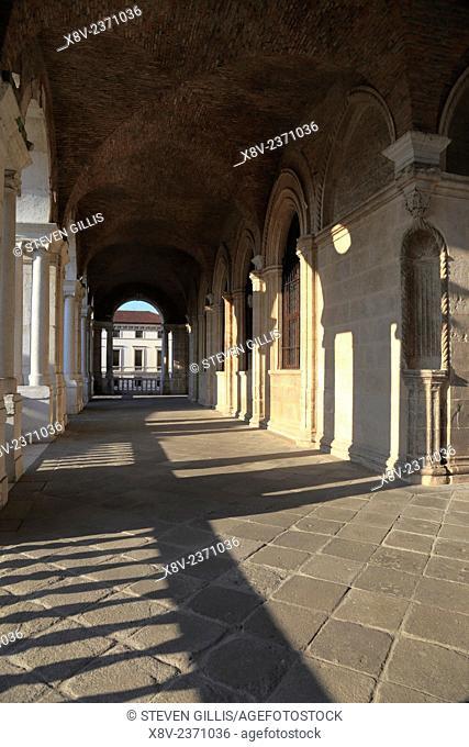 Lower loggia of Basilica, Vicenza, Italy, Veneto