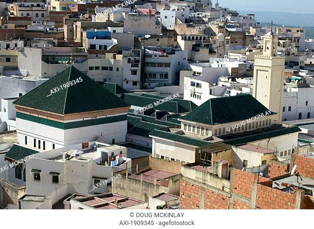 High Angle View Of Kairaouine Mosque, Moulay Idriss,Morocco