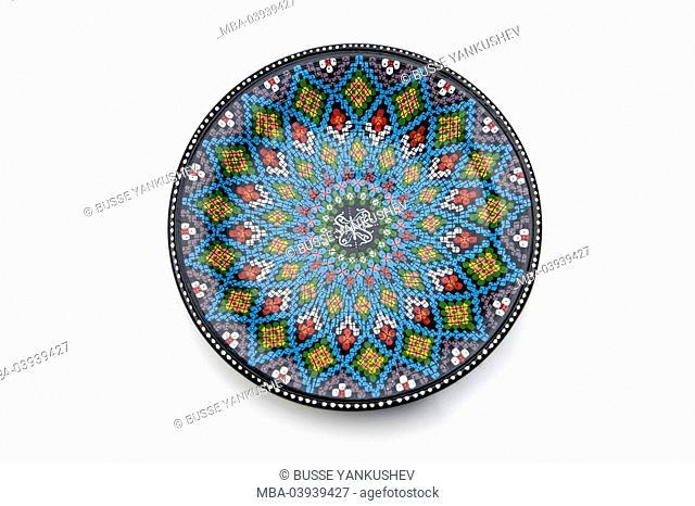 Peel, ceramics, mosaic, scrutinized pattern, oriental