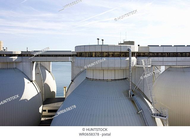 Digester tanks in a water treatment plant