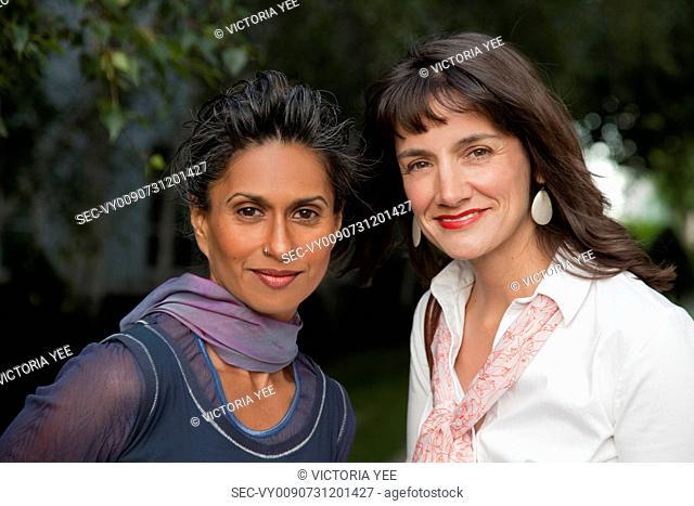 Portrait of two female friends
