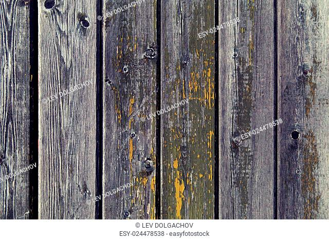 backgrounds and texture concept - old wooden fence painted in green background