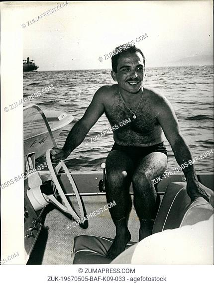 May 05, 1967 - King Hussein Takes part in Water - Ski Festival : Owing to the present tense situation in the Middle East