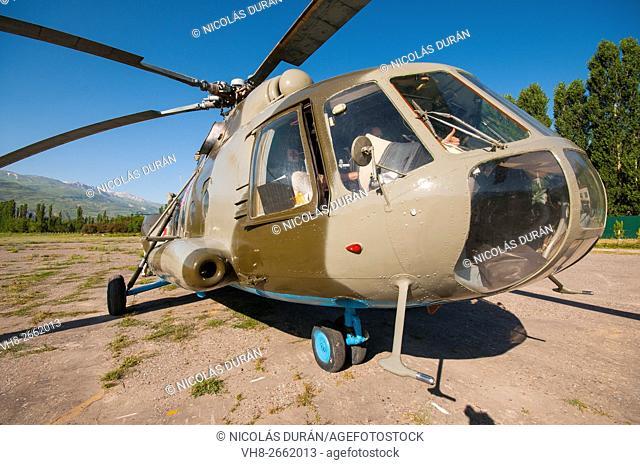 Russian helicopter Mil Mi-8, Djirgital, Tajikistan
