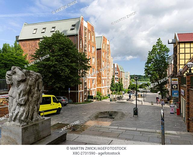 Residential area at the Lange Strasse, a showcase of architecture in the GDR buildt in the 1950 ies. The hanseatic city of Rostock at the coast of the german...