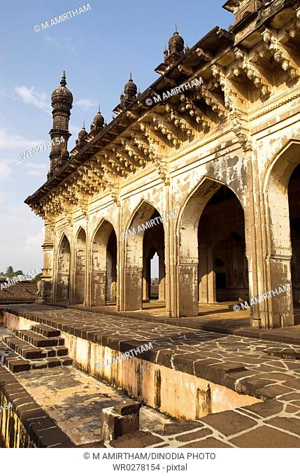 Ibrahim-Rauza built by Ibrahim Adil Shah II in Bijapur , Karnataka , India