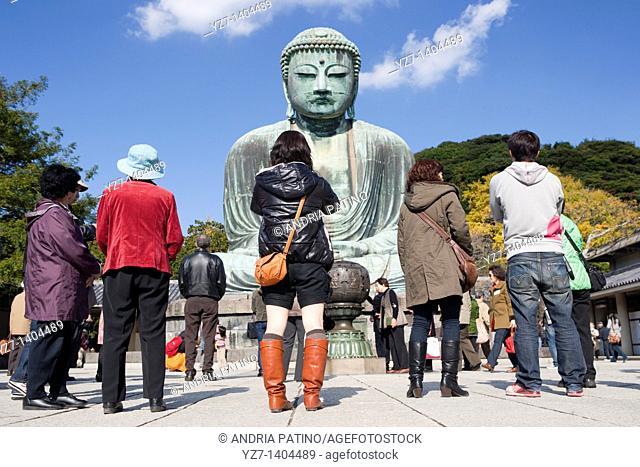Visiting the Daibutsu Great Buddha of Kamakura, Japan