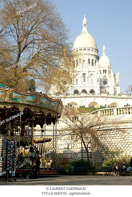 Sacré Cœur, 18° arrondissement, Ile-de-France, Paris, France