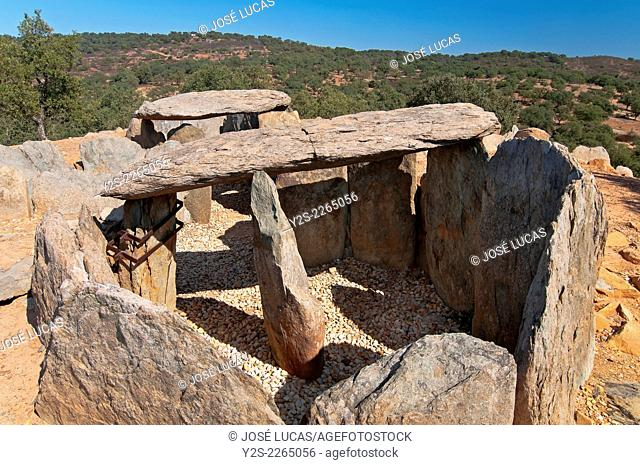 Dolmens of El Pozuelo - betwen 2500-2200 BC, Zalamea La Real. Huelva province, Region of Andalusia, Spain, Europe