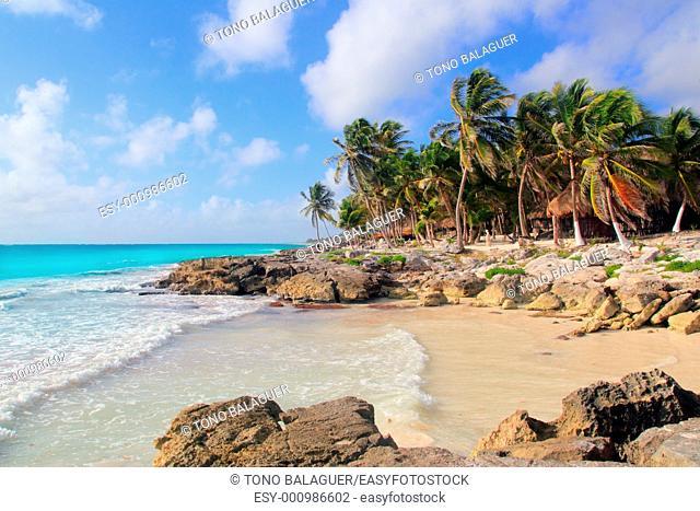 Caribbean Tulum Mexico tropical turquoise beach Mayan Riviera