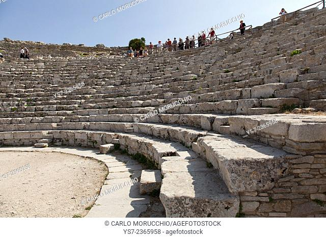 The Greek theatre in Segesta, Trapani, Sicily, Italy, Europe