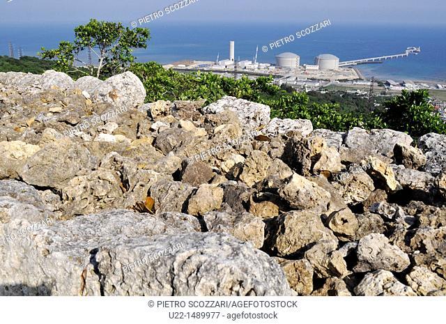 Okinawa (Japan): view of Okinawa coast from the walls of the Nakagusuku Castle