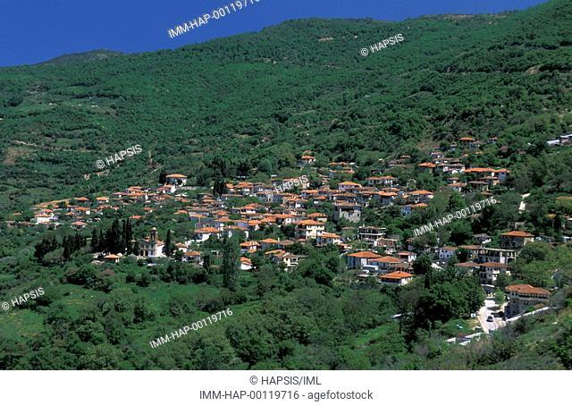 Ambelakia village, general view , Larissa, Thessaly, Greece